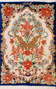 サイズ40×27cm silk100% フラワー クム産63,000円(税込)
