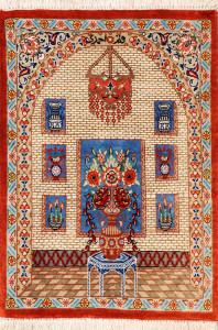 サイズ42×28cm silk100% ピクチャー&花瓶 クム産168,000円(税込) SOLD OUT