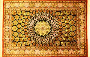 サイズ120×76cm<br> silk100%<br> モスクのデザイン<br> クム産<br> モハマディ工房585,000円(税込)