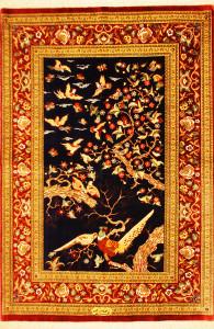 サイズ120×79cm silk100% 鳥の楽園 クム産 サーデグザーデ工房885,000円(税込) SOLD OUT