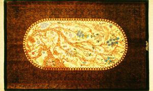 サイズ130×77cm<br> silk100%<br> ユートピア<br> クム産<br> カーゼミー工房685,000円(税込)
