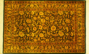 サイズ125×78cm<br> silk100%<br> ブラックゴールド<br> クム産<br> ゴーハリ工房655,000円(税込)