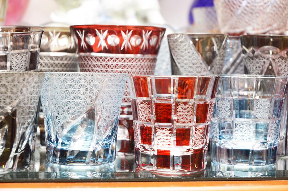 ボヘミア調切子ガラス