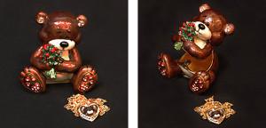 クマ(I Love You クマ。ペンダント付き) サイズ高さ5.5×幅5.5cm 12,600円