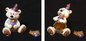 ハッピーバースデー クマ(ペンダント付き) サイズ高さ6.5×幅6cm 12,600円