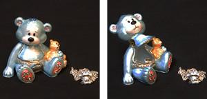 It's a boy クマ with his son(ペンダント付き) サイズ高さ5.5×幅6.5cm 12,600円