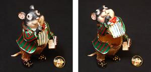 ネズミ(バッジ付き) サイズ高さ8.5×幅6cm 21,000円