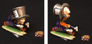マッドハッター~不思議の国のアリス いかれ帽子屋(ペンダント付き) サイズ高さ7.5×幅8cm 21,000円