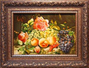 バラと果物<br> サイズ幅85cm×高さ65cm<br> 額込み 120万円(税別)⇒50%OFF!