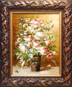 花瓶とフラワー サイズ幅65×高さ78cm<br> 額込み 90万円(税別)⇒50%OFF!