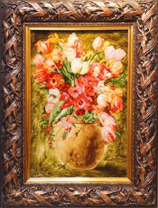 花瓶とフラワー<br> サイズ幅60×高さ80cm<br> 額込み 98万円(税別)⇒50%OFF!