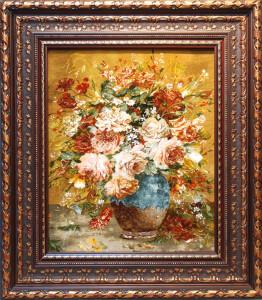 花瓶とフラワー<br> サイズ幅70×高さ80cm<br> 額込み 90万円(税別)⇒50%OFF!