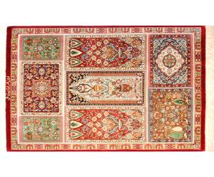 サイズ95×59cm<br> silk100%<br> ヘシティ<br> クム産<br> ジャムシディ工房480,000円(税別)