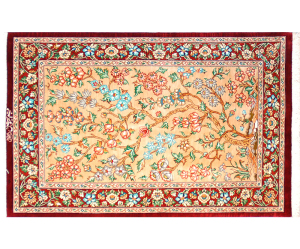 サイズ88×57cm<br> silk100%<br> クム産<br> ターワーソリ工房335,000円(税別)