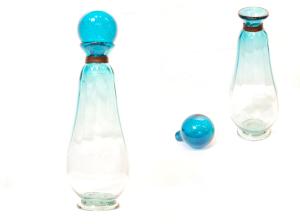 美しい円柱 水挿し<br> 置物、飾りとして。<br> ふたをとって花瓶、一輪挿しにも<br> ふたを含めたサイズ 高さ34cm×幅12cm  14,800円
