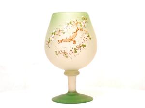 美しい手描き飾りの花瓶<br> 置物、飾りとして。<br>サイズ 高さ26cm×幅15cm  12,500円(色違い ブラウンとブルーもあります)