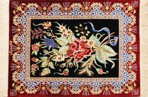 サイズ60×42cm<br> silk100%<br> フラワー<br> アハマディ工房185,000円(税込)