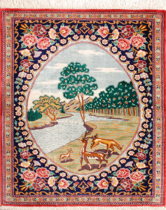 サイズ75×59cm silk100% ピクチャー・タペストリー ゴーハリ工房148,000円(税込)