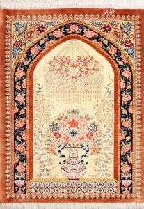 サイズ75×57cm silk100% フラワー・タペストリー ゴーハリ工房178,000円(税込)