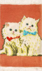 サイズ42×27cm<br> wool&silk  タブリーズ産<br>115,000円(税込)