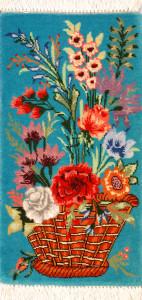 サイズ47×25cm<br> wool&silk  タブリーズ産<br>68,000円(税込)