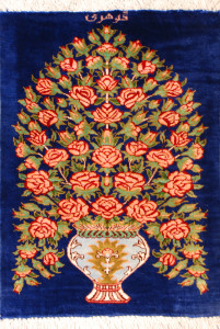 サイズ40×28cm silk100% 花と花瓶 クム産120,000円(税込)SOLD OUT