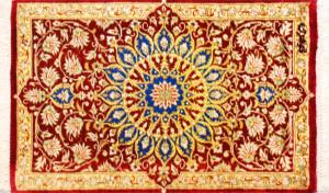 サイズ45×27cm<br> silk100%<br> メダリオン<br> クム産92,000円(税込)