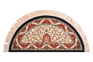 機械織りペルシア絨毯 半円形