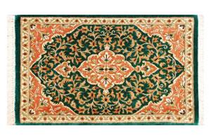 コンパクトなペルシア絨毯~クム産 シルク100%